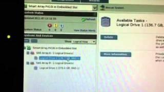 HP Raid Array Configuration Utility