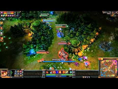 Ziggs Hexplosive Minefield Gameplay - League of Legends