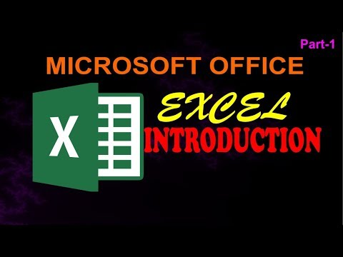 #MSE-01 Microsoft office Excel Introduction | excel tutorial free in hindi