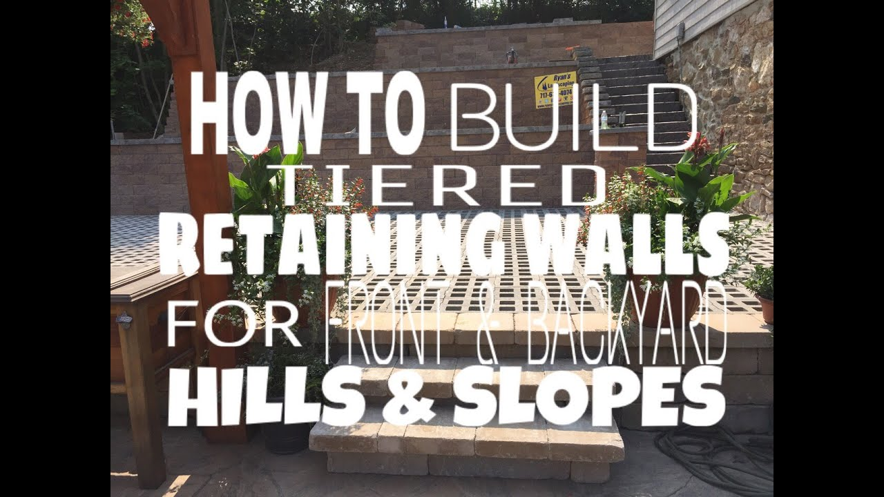 How to build tiered retaining walls for front & backyard ... on Tiered Yard Landscaping id=25454