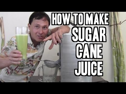 How to Make Sugar Cane Juice