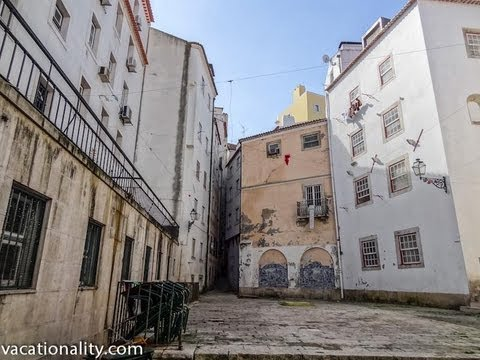 Portugal Lisbon, Narrow streets of Alfama, Oldest Quarter, Walking around