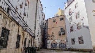 Portugal Lisbon, Narrow streets of Alfama, Oldest Quarter, Walking around