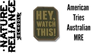 What does an Australian MRE contain?
