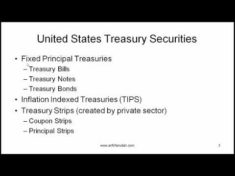 CFA Level I Bond Sectors and Instruments Treasuries Video Lecture by Mr. Arif Irfanullah Part 1