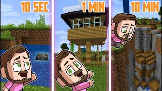 10 Seconds vs 1 Minute vs 10 Minute House Build Off! | Minecraft