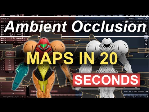 Blender 2.8 : Ambient Occlusion Maps In 20 Seconds!!! (Gimp - Tutorial) thumbnail