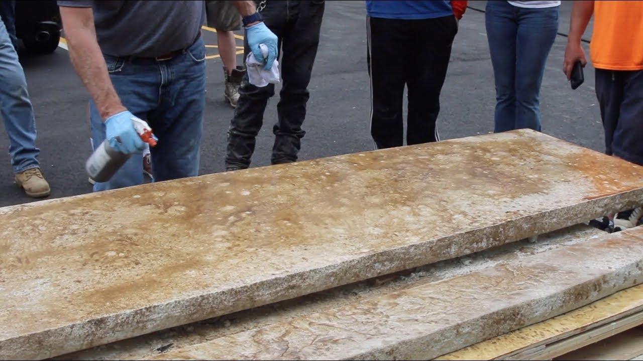 Concrete Countertops With Aqua Stain Uv