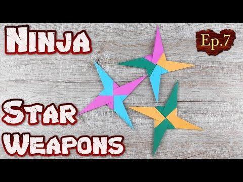 Ninja Star Origami   How To Making a Ninja Weapons Paper Tutorials   DIY Paper Blade Shuriken Ep.7