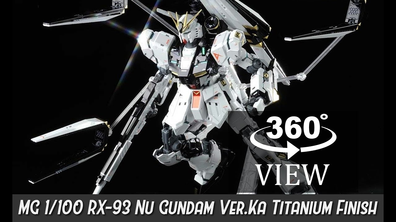 [360°Degree] MG 1/100 RX-93 Nu Gundam Ver.KA Titanium Finish