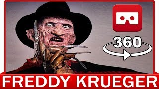 360° VR VIDEO - NIGHTMARE on Elm Street - Freddy Krueger | First Person | Friday The 13Th