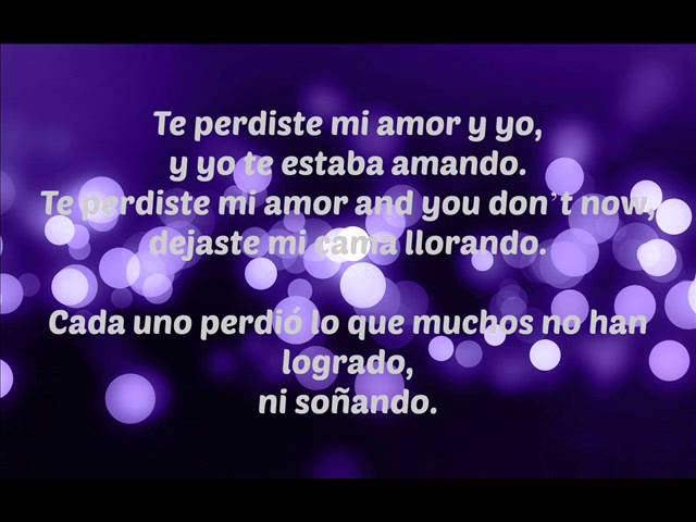 Te Perdiste Mi Amor - Thalia ft. Prince Royce (Lyrics) Videos De Viajes
