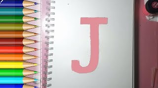 Learn alphabetically and draw the letter J
