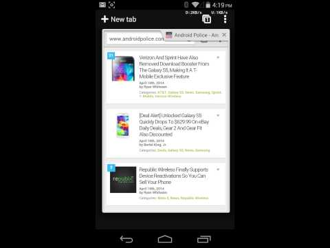 Undo tab close in Chrome Beta 35 for Android