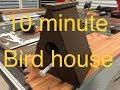 Cedar birdhouse build
