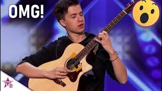 Polish Guy Plays The Guitar Unlike Anything You've SEEN! 😱 GENIUS!| America's Got Talent 2019