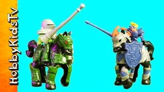 Imaginext Jousting Knights Horse Shield + Lance! Fisher Price HobbyKidsTV