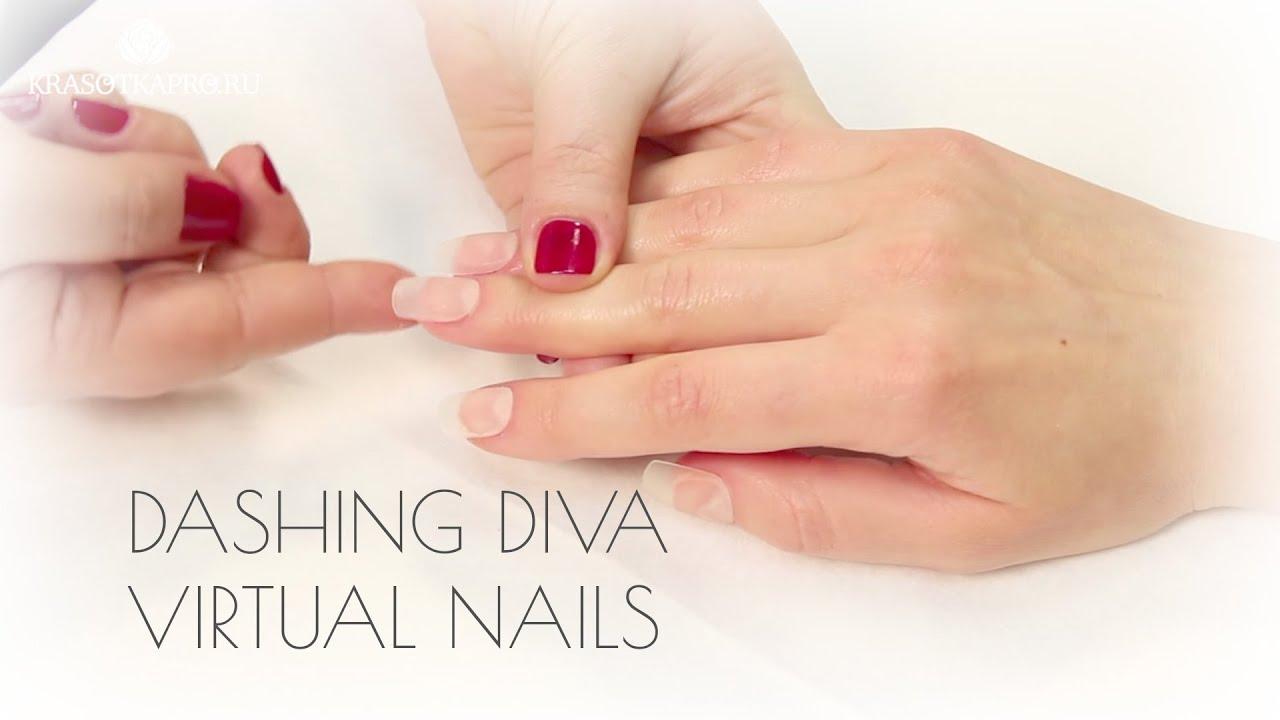 Прозрачные накладные ногти от Dashing Diva - YouTube