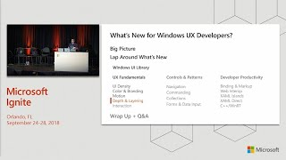 What's new for Windows UX developers: WinUI XAML and Fluent - BRK2108
