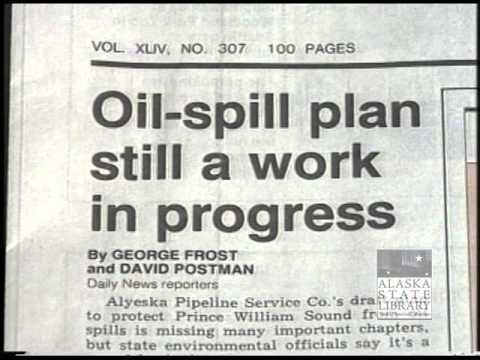 Newspaper Headlines & Kinzoric's Computer Spill Maps (asl_av25_23) Exxon Valdez Oil Spill