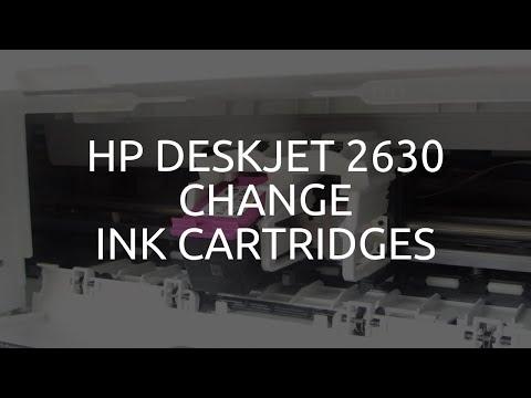 HP Deskjet 2630 Change Ink Cartridges