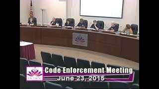 City of Ocoee Code Enforcement Meeting 6.23.2015