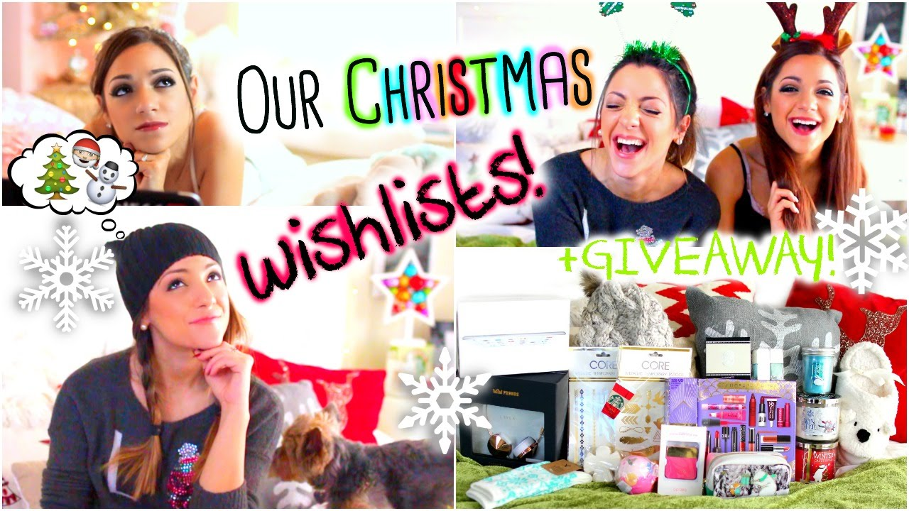 christmas wishlists 2014 what we want for christmas huge holiday giveaway youtube