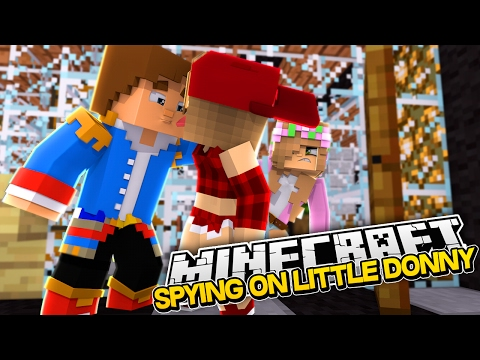 LITTLE KELLY IS SPYING ON LITTLE DONNY & A GIRL! Minecraft Custom Roleplay