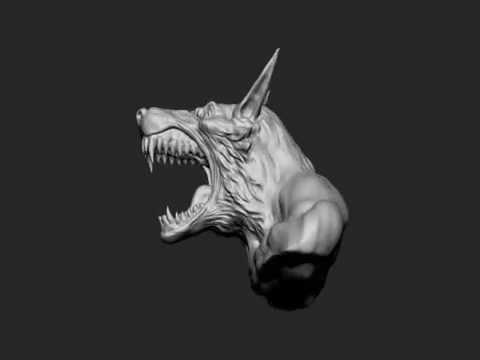 Paul Bonner Wolfman Head Zbrush Sculpt Timelapse