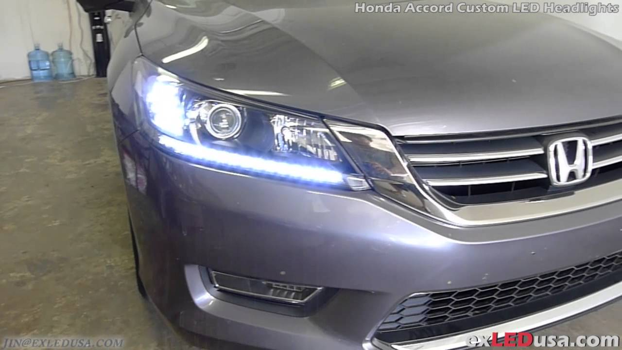 Exledusa Honda Accord Custom Led Headlights Youtube