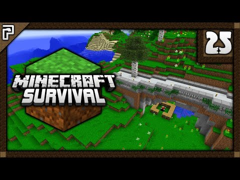 💎 Modern Walkway & Linking Nether Portals! | Let's Play Minecraft Survival 1.12