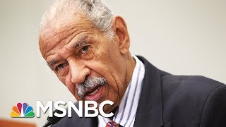 John Conyers Denies Any Conduct That 'Remotely Resembles Sexual Harassment' | Velshi & Ruhle | MSNBC