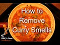 How to remove curry smell from an apartment