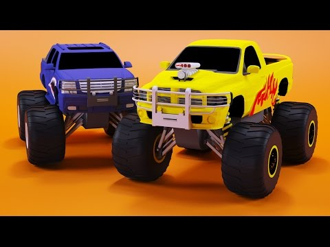 Thumbnail: Monster Trucks Races Cartoon | Cars for kids | Educational Video for Children by Bambo-Jambo