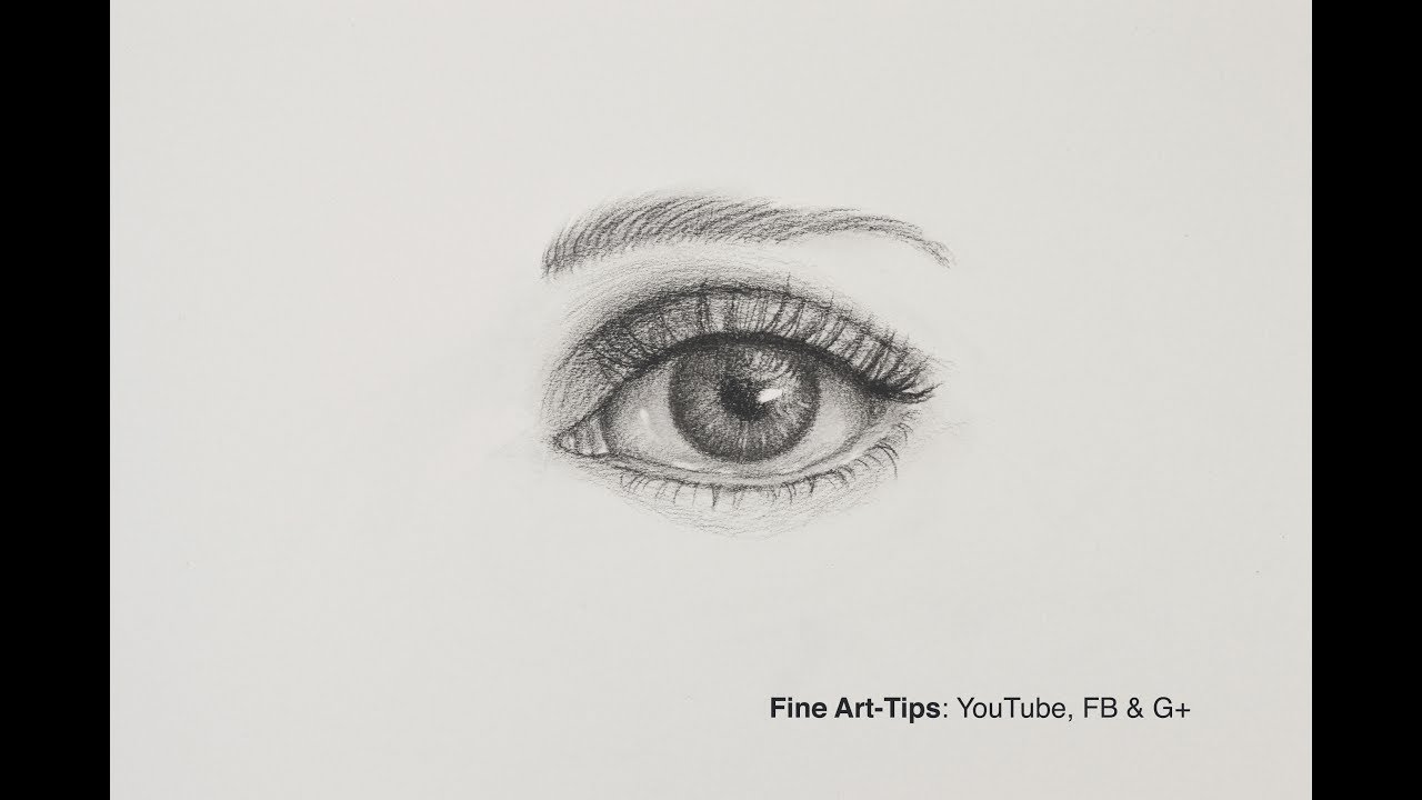 How to draw an eye the easiest way narrated front view