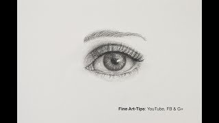 How to Draw an Eye, the Easiest Way - Narrated (Front View)