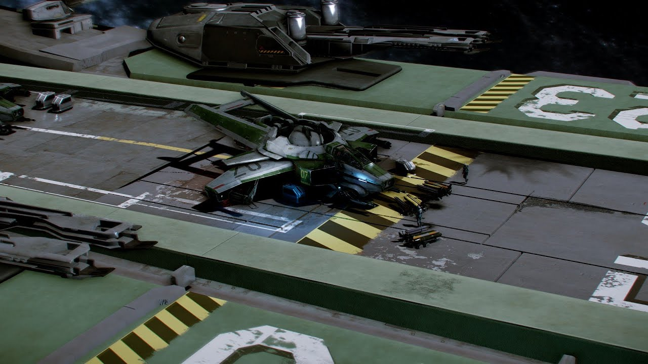 star citizen how to fly out of your hanger