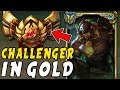 I TOOK MY TRYNDAMERE INTO GOLD ELO! CHALLENGER TRYNDAMERE MAIN VS GOLD! - League of Legends
