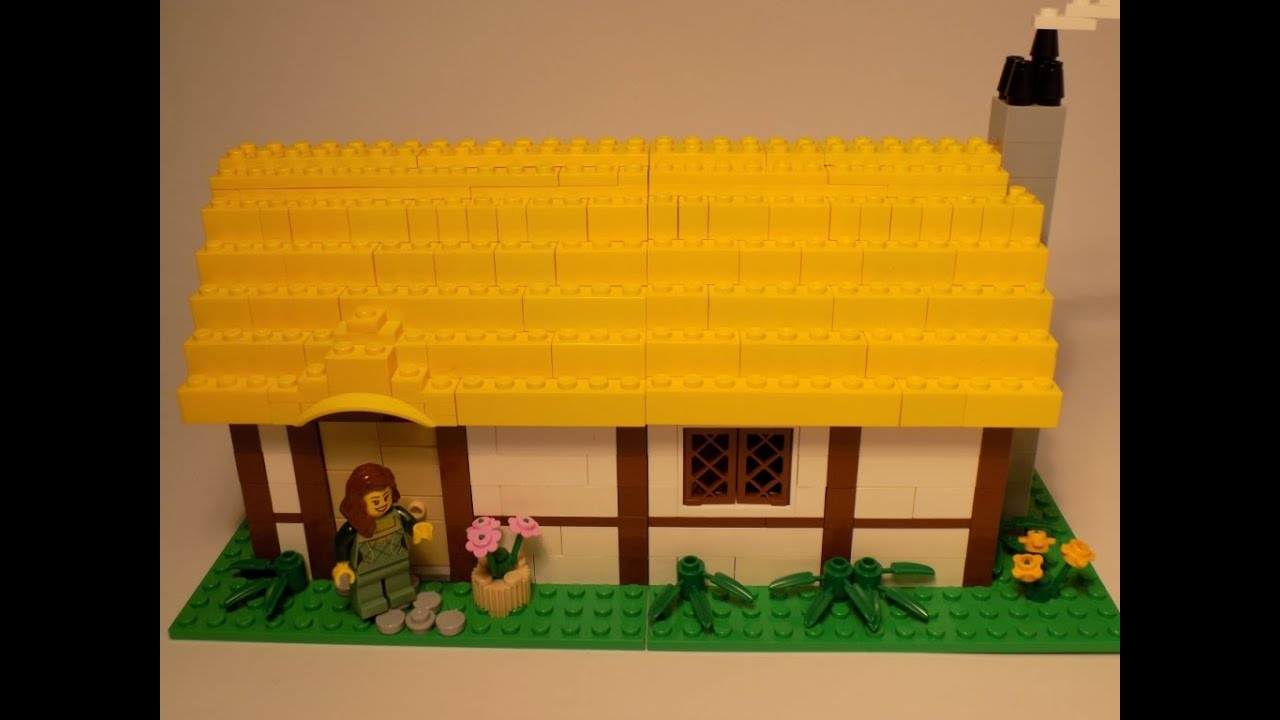 Lego Medieval House lego medieval village house - moc - youtube