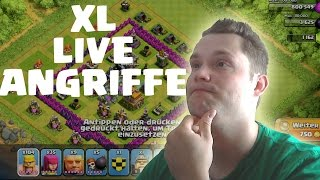 XL LIVE ANGRIFFE || CLASH OF CLANS || Let's Play Clash of Clans [Deutsch/German HD]