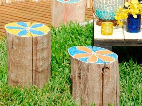 23 Stunning Tree Stump Decorating Ideas Recycle Tree Stump For Garden Decorations
