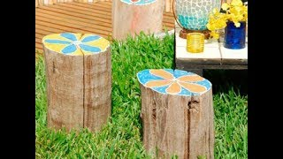 23 Stunning Tree Stump Decorating Ideas | Recycle Tree Stump for Garden Decorations