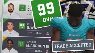 SECRET 99 OVR BLOCKBUSTER TRADE GOES DOWN!! Madden 19 Franchise Wheel #7