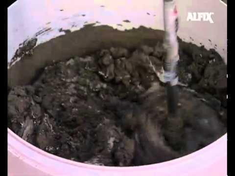 Vandtætning i badeværelser - Vandtætning med Alfix 2K Tætningsmasse