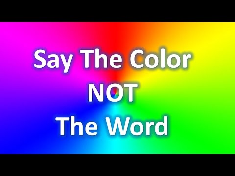 Say The Color NOT The Word