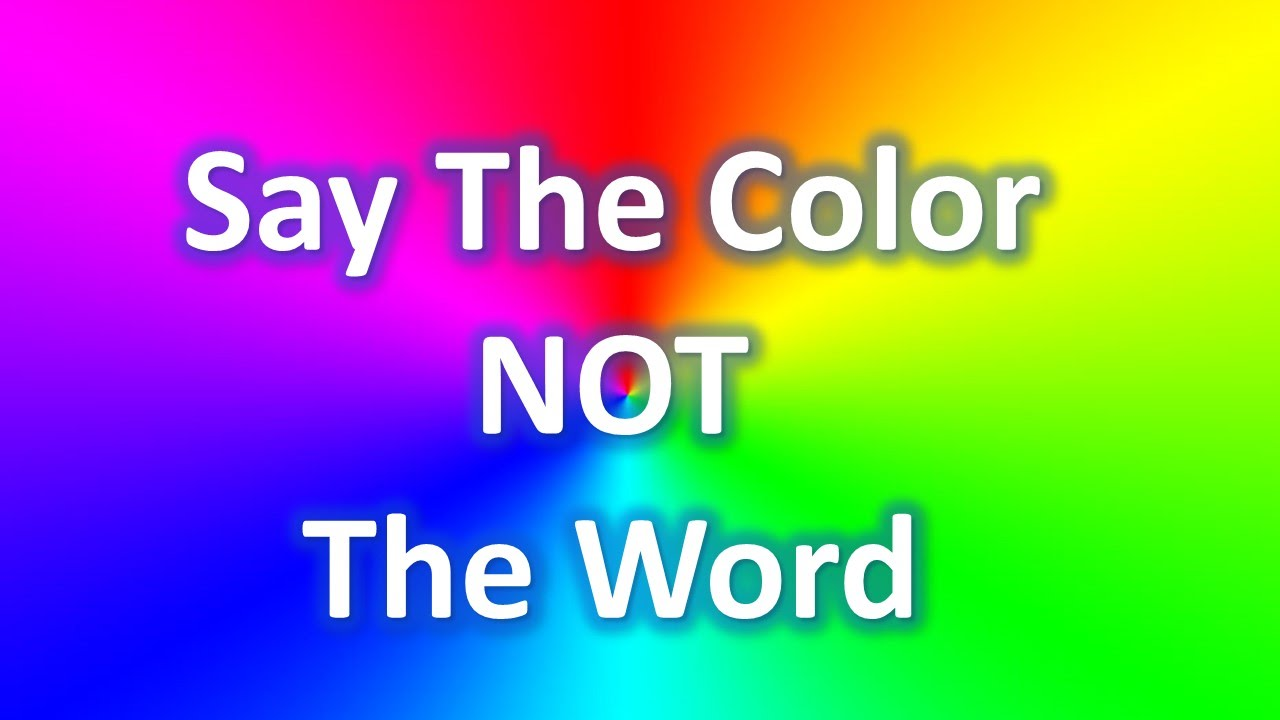 say the color not the word youtube