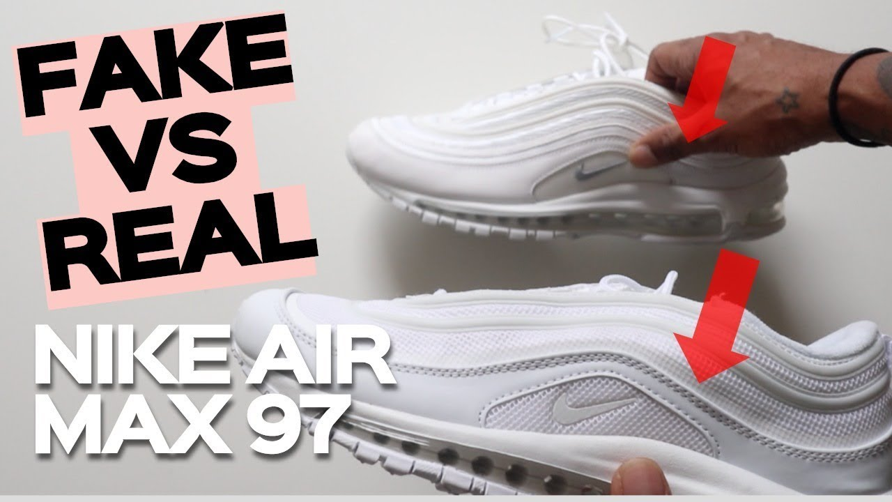 online retailer 97b22 e1111 FAKE VS REAL NIKE AIR MAX 97 TRAINERS