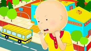 Funny Animated cartoons Kids 🎒Caillou is Late For School 🚌 WATCH ONLINE | Cartoons for Children