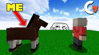 FOLLOWING PLAYERS UNTIL THEY NOTICE IN DISGUISE ON MINECRAFT...
