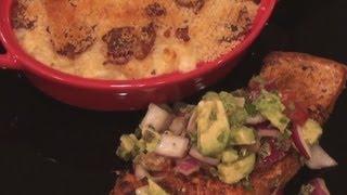 75. Recipe Contest Special - Salmon W Avocado Salsa, Bacon Mac'ncheese, Chocolate Souffle Shots